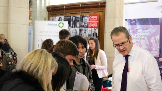 Ashfield at Cardiff University Careers Science Fair