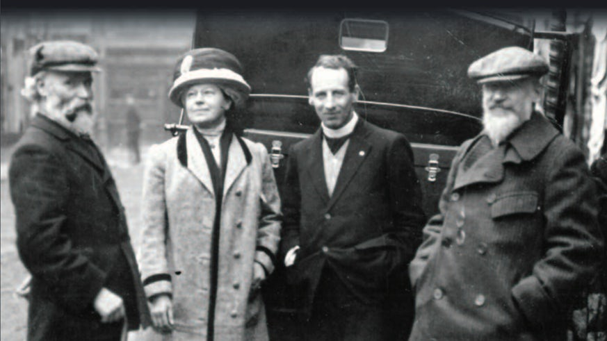 Black and White image of Welsh socialists