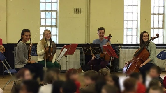 Claret String Quartet from Cardiff University School of Music