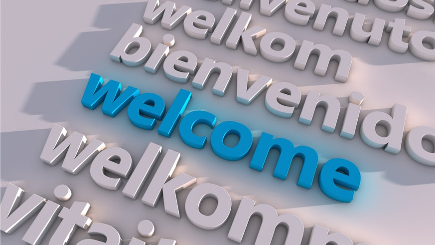 Welcome in a number of languages