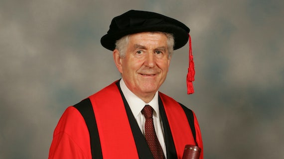 Rhodri Morgan in robes