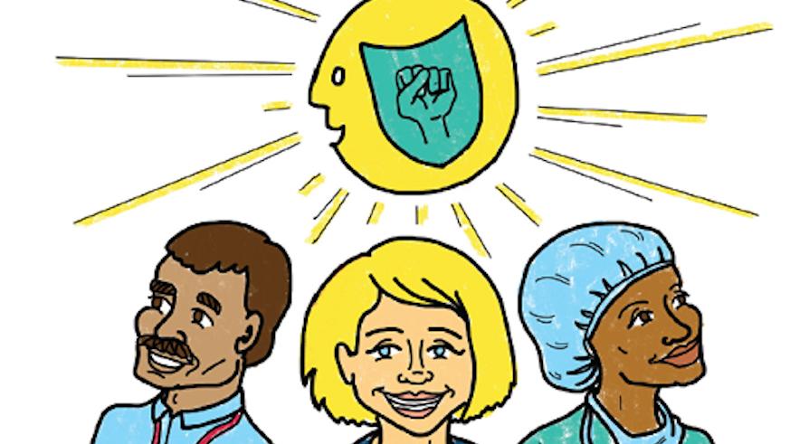 3 healthcare workers