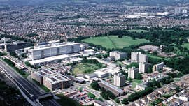 Aerial shot of Heath hospital