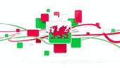 Welsh flag mosaic