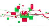 Welsh flag mosaic