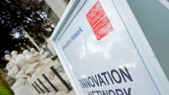 Top of sign showing words Innovation Network