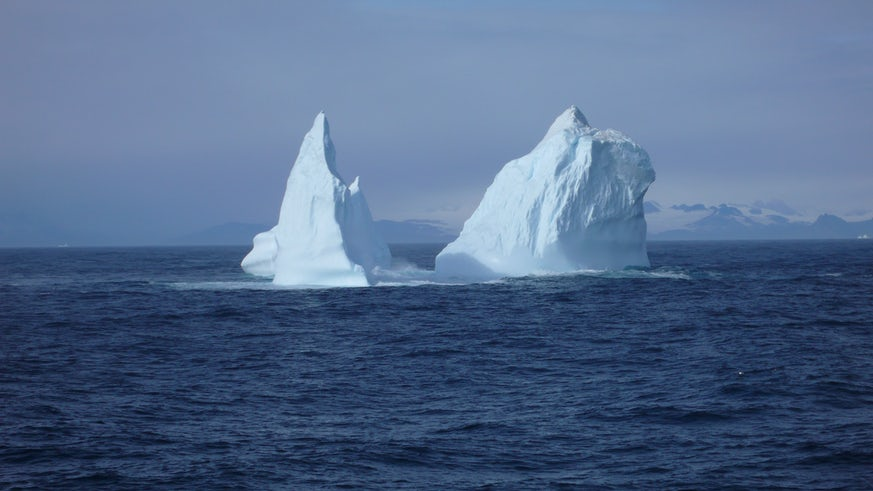 Iceberg in middle of sea water