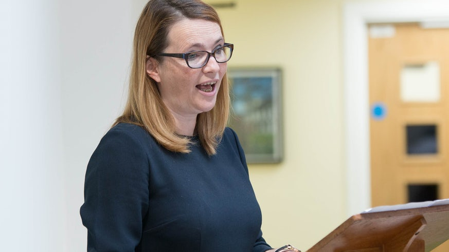 Cabinet Secretary for Education, Kirsty Williams launching the Spanish Embassy Education Office (SEEO) and the Goethe Institut London satellite office at the School of Modern Languages