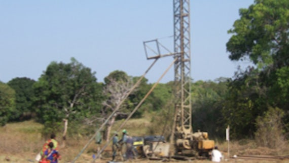 Drilling for palaeoclimate research at Stakishari, Tanzania