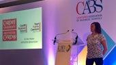 Dr Eleri Rosier presenting at CABS conference
