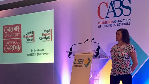 Dr Eleri Rosier presenting at CABS conference