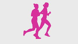 running pair purple icon