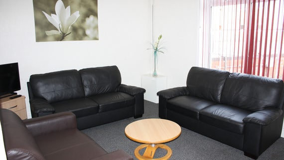 Lounge in Talybont Court 3 Bed House