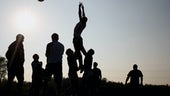 Rugby players in Shadows