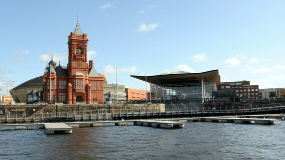 Photo of Pierhead Building and Senedd in Cardiff Bay