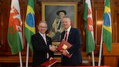 Colin Riordan and Rector of Universidade Estadual de Campinas