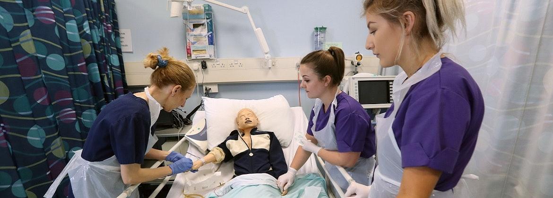 Child Nursing students observing