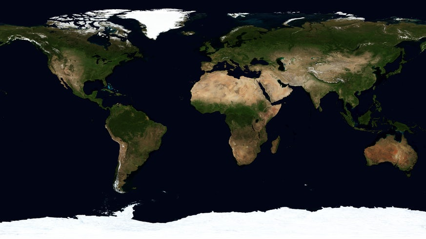 Earth satellite image