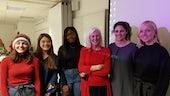 Cardiff Law students pictured here with Gloria Morrison, one of the co-founders of JENGbA