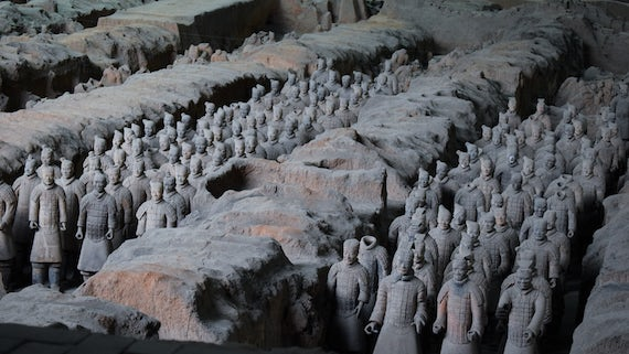 The Terracotta Army in China