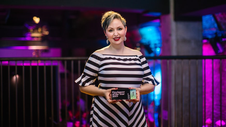 Rachel Mason winning freelancer of the year