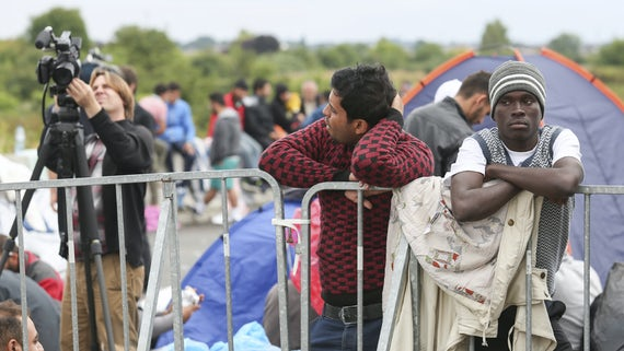 Refugees at the slovenian border with Croatia in Slovenia.