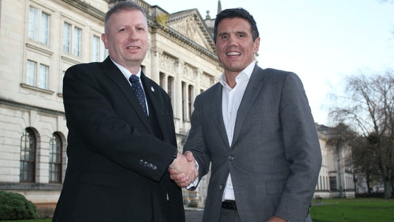 David Edwards (left), Director of IT, Cardiff University, and Roger Harry, Founder and Owner of Circle IT.