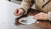 Person doing jigsaw