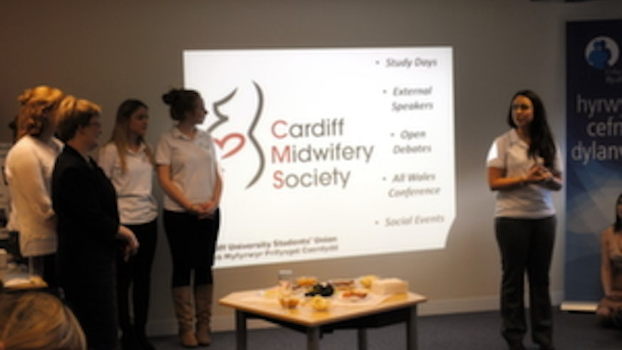 Cardiff University midwifery students launch the Cardiff Midwifery society