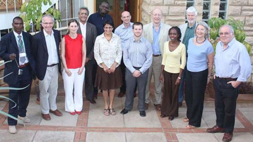 Professor Manji is pictured with colleagues from the British Academy at the British Institute