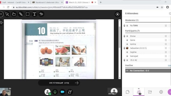 Online Mandarin learning with the Confucius Institute