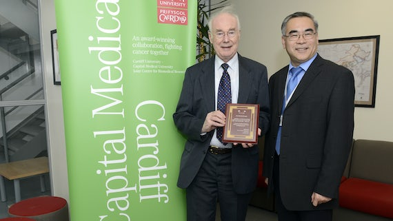 Sir Martin Evans and Professor Wen Jiang