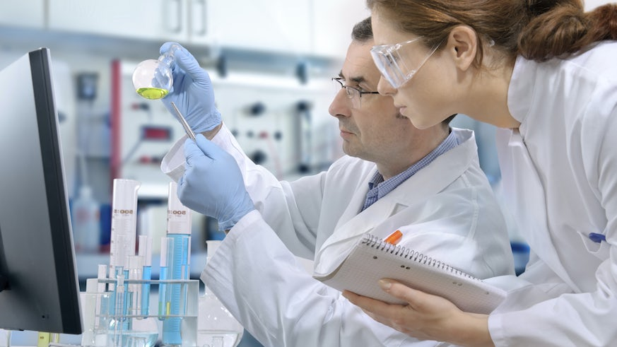 Stock image of people working in a lab