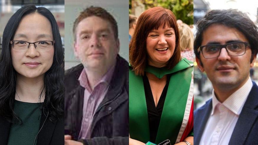 Portraits of four academics
