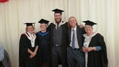 Former Exploring the Past students pictured with Dr Paul Webster in 2019