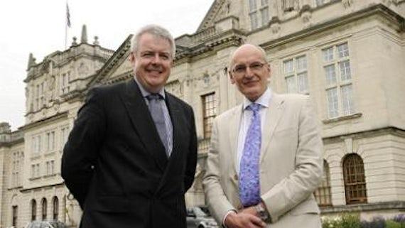 Derek Jones KCB and First Minister of Wales, Carwyn Jones