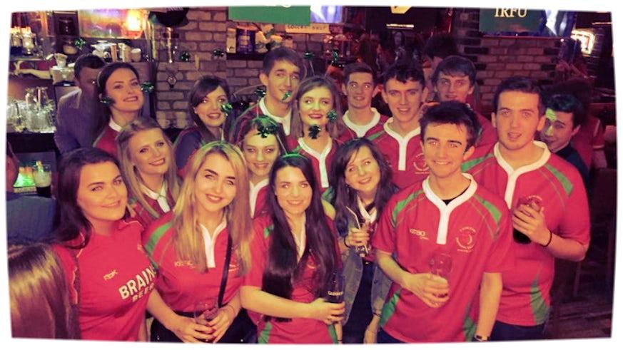 Gym-Gym members in a Dublin bar.