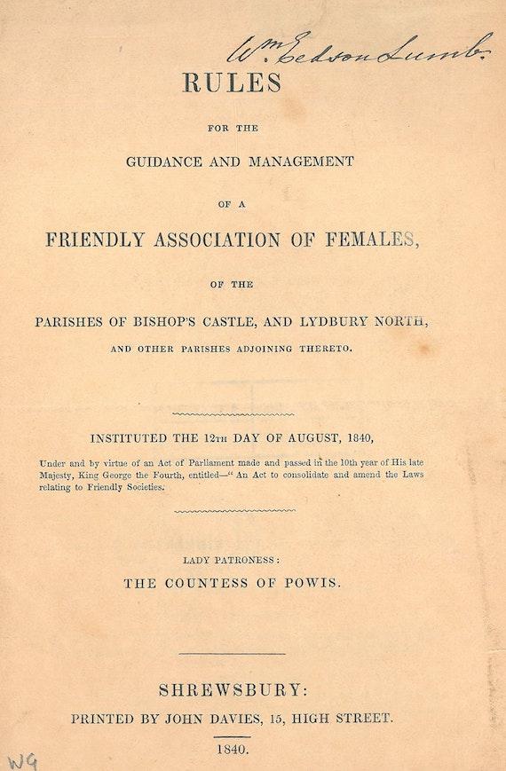 Women's societies