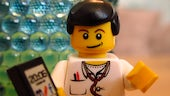 Lego doctor with mobile phone