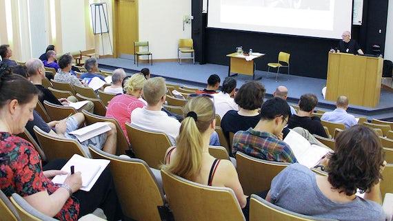Phillip Zarrilli opens the Martial Arts Studies conference
