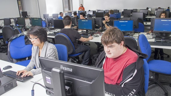 Students in large PC suite