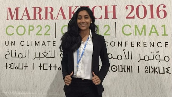 Nachatira Thuraichamy at the  UN Framework Convention on Climate Change (UNFCCC).