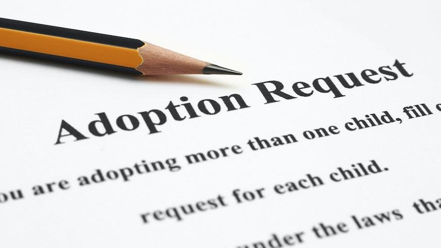 Adoption request paperwork image