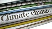 Newspaper headline on Climate change