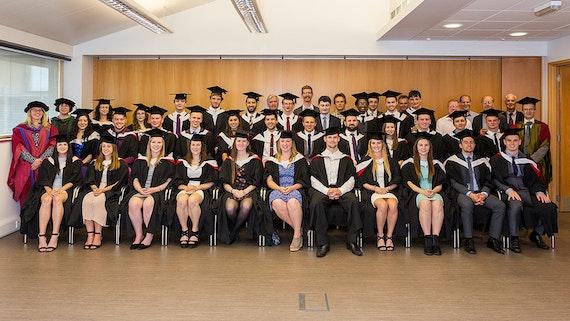 Physics and Astronomy graduates group shot