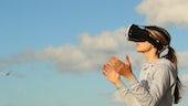 VR girl headset