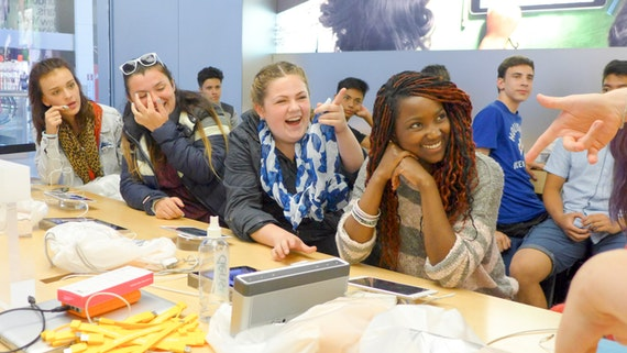 Year 10 students in a data workshop at the 2014 summer school
