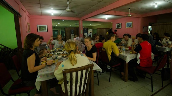 Communal dining at Danau Girang