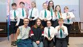 Emma Renold and school kids