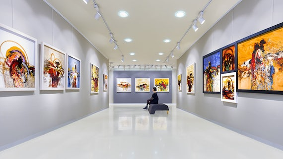 A modern light art gallery